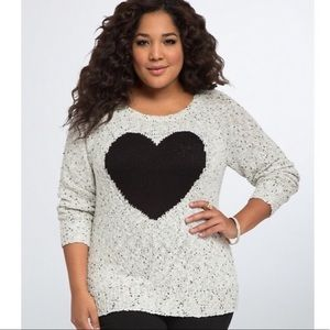Torrid heart sweater
